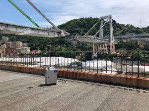 APM-2 von der Morandi-Brücke in Genua